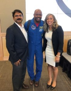 Padhu Seshaiyer (GMU), Leland Melvin and Kelly Knight (GMU)