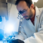 Professor uses special equipment to look at mouse brain